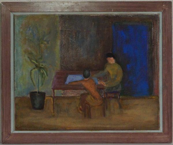 Marianne Haukebø I et rom med palme