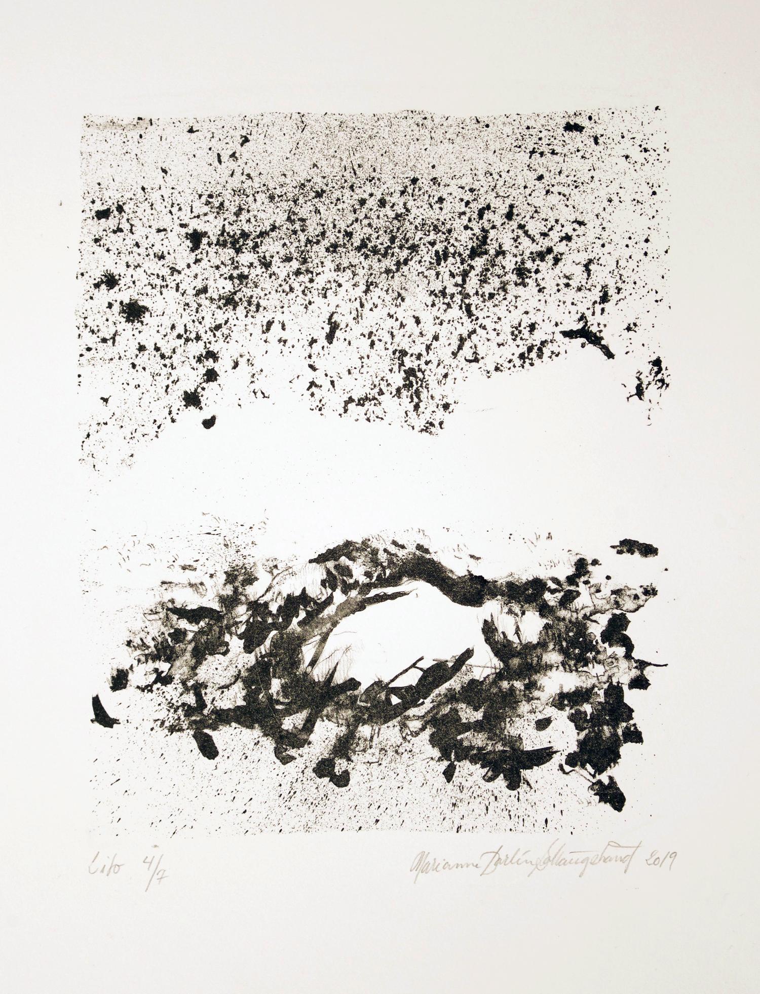 Litografi Solhaugstrand 2019